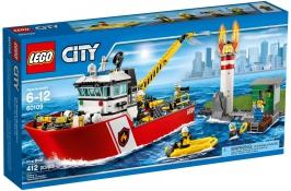 Пожарный катер НОВИНКА LEGO City (Город)